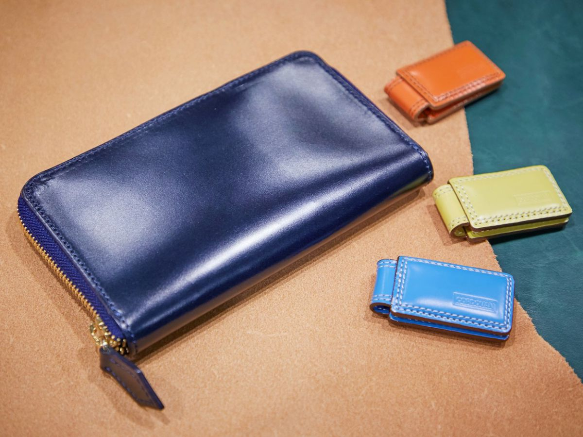 CORDOVAN MIDDLE WALLET  4万8600円、MONEY CLIP 各5832円