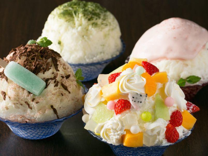 フォトジェニックなご褒美かき氷は「抹茶」「白桃」「チョコミント」「シロクマ」