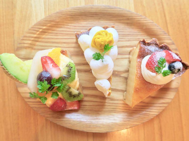 福岡・大濠公園の路地裏カフェで味わう、キュートすぎる秋タルト