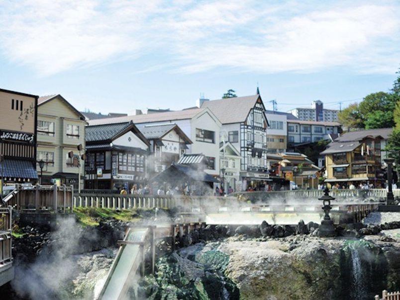 開放感たっぷりのお風呂でのんびりと!草津で湯めぐりぶらぶら散歩