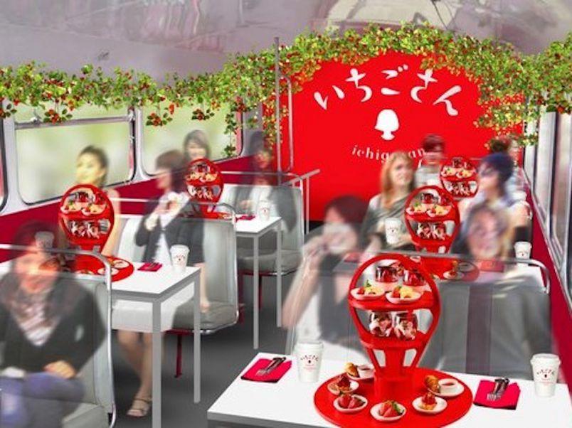 東京の新名所を巡りながらいちご狩り&アフタヌーンティー?!「いちごさんバス」でプレミアム体験
