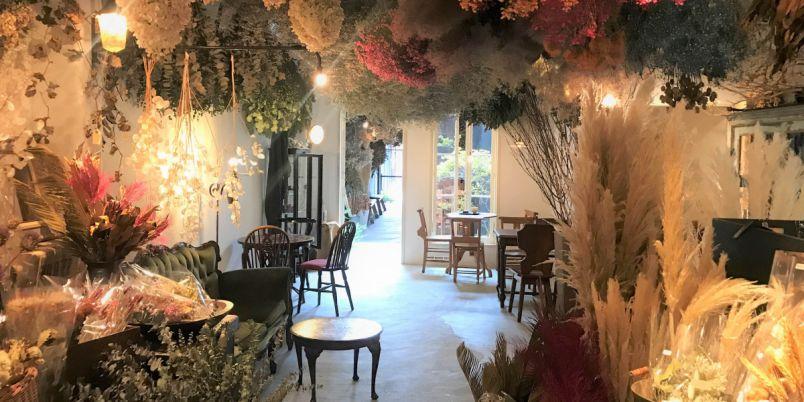 お花の香りに包まれる幸せ!京都・カフェ併設のドライフラワー専門店