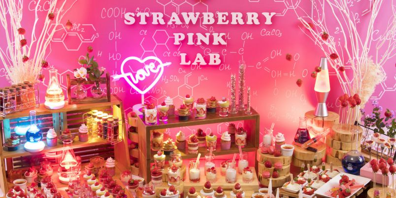 ANAクラウンプラザホテル福岡で「ストロベリーデザートビュッフェ~Pink Lab~」開催