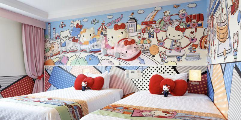 かわいすぎて悶絶…!サンリオキャラクターに囲まれる客室で夢のようなひとときを体験