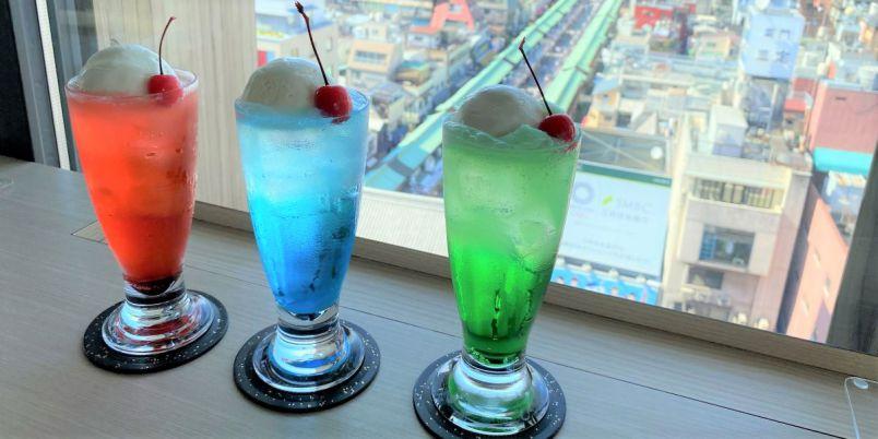 浅草の絶景が見渡せる!「アサクサ ミハラシカフェ」でフォトジェニックなクリームソーダを♪