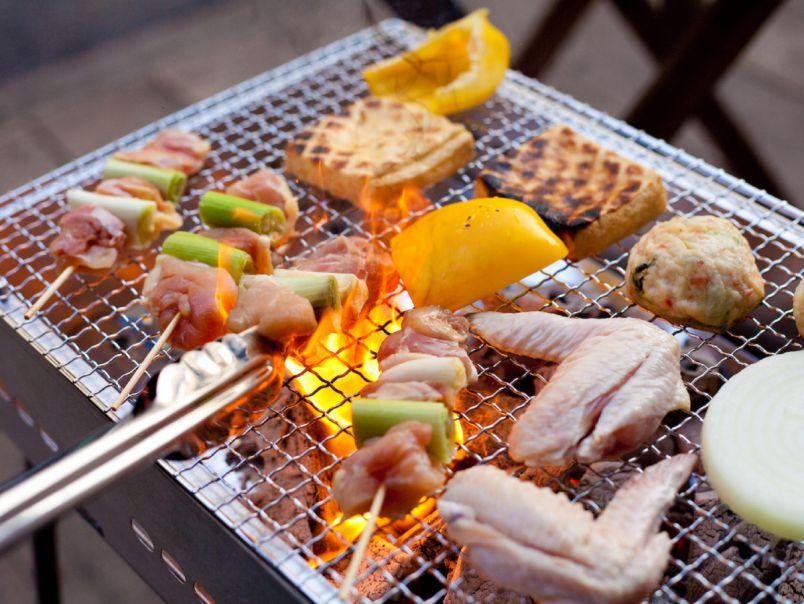 場外市場で好きな食材を買いこんで。手ぶらで楽しむ京都の春BBQ!