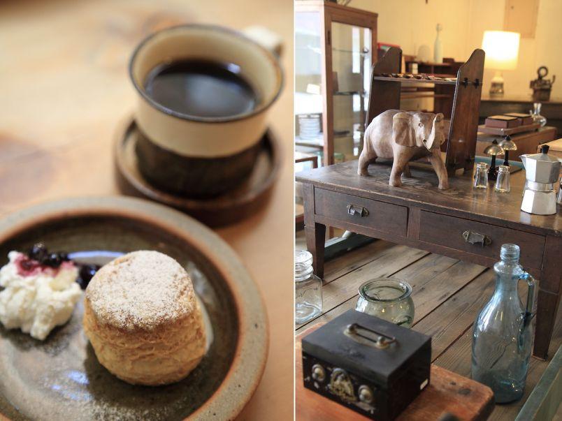 サクサクのスコーンが絶品。古道具カフェのおいしいスイーツとごはん